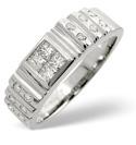 9K White Gold 0.56Ct Diamond Ring From Catalina Diamonds D1065