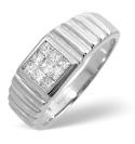 9K White Gold 0.5Ct Diamond Ring From Catalina Diamonds D1067