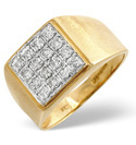 9K Yellow Gold 0.5Ct Diamond Ring From Catalina Diamonds D1004