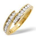 9K Yellow Gold 0.5Ct Diamond Ring From Catalina Diamonds C1759