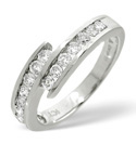 9K White Gold 0.5Ct Diamond Ring From Catalina Diamonds C1760