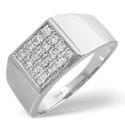 9K White Gold 0.5Ct Diamond Ring From Catalina Diamonds D1078
