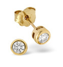 9K Yellow Gold 0.2Ct Diamond Earrings From Catalina Diamonds Z1376