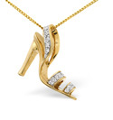 9K Yellow Gold 0.1Ct Diamond Necklace From Catalina Diamonds E1794