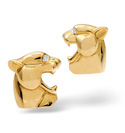 9K Yellow Gold 0.02Ct Diamond Gifts/Cufflinks From Catalina Diamonds E1469