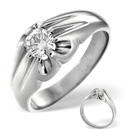 18K White Gold 0.5Ct Diamond Ring From Catalina Diamonds L1225