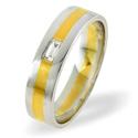0.07CT G/VS Diamond Round Wedding Band Ring Palladium from Catalina Diamonds WB13-8VSP4
