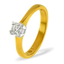 0.25CT PK Diamond Princess Solitaire Ring 18K Yellow Gold from Catalina Diamonds SR08-50VSQ1