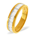 0.25CT H/SI Diamond Baguettes Channel Set Ring 18K Yellow Gold from Catalina Diamonds DR12-25HSY