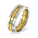 0.37CT H/SI Diamond Round Wedding Band Ring 18K White Gold from Catalina Diamonds WB13-37HSW