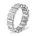 1CT H/SI Diamond Baguettes Bar Full Eternity Ring 18K White Gold from Catalina Diamonds FE25-200VSY1