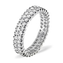 1CT H/SI Diamond Rounds Pave Setting Full Eternity Ring Platinum from Catalina Diamonds FE18-100HSQ