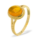 Amber Ring 9K Yellow Gold from Catalina Diamonds Y1609