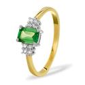 0.06CT Diamond, Tsavorite Ring 9K Yellow Gold from Catalina Diamonds Y2182