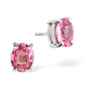 Pink Sapphire Earrings 9K White Gold from Catalina Diamonds Z1439