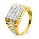 0.1CT Diamond Ring 9K Yellow Gold from Catalina Diamonds C3487
