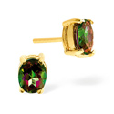 Mystic Topaz Earrings 9K Yellow Gold from Catalina Diamonds Z1433