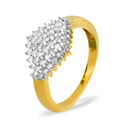 0.5CT Diamond Ring 9K Yellow Gold from Catalina Diamonds SKU11