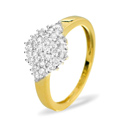 0.5CT Diamond Ring 9K Yellow Gold from Catalina Diamonds SKU1