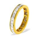 1CT H/SI Diamond Princess Channel Set Full Eternity Ring 18K White Gold from Catalina Diamonds FE19-100HSW