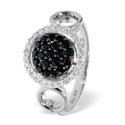 0.17CT Diamond, Black Diamond Ring 18K White Gold from Catalina Diamonds L2141