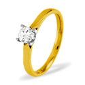 0.5CT PK Diamond 4 Claws Round Solitaire Ring 18K Yellow Gold from Catalina Diamonds SR05-50PKY
