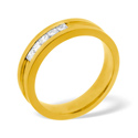 0.22CT H/SI Diamond Wedding Band Ring 18K Yellow Gold from Catalina Diamonds WB07-22HSY