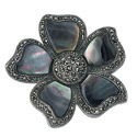 Silver Marcasite, Mother Of Pearl Bracelet From Elements Silver D250