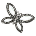 Silver Mother Of Pearl, Marcasite Gifts/Brooches From Elements Silver D269W