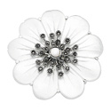 Silver Marcasite, Mother Of Pearl Gifts/Brooches From Elements Silver D295W