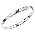 D For Diamond Silver Adjustable Abc Bracelet For Girls B2085