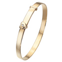 D For Diamond 9Ct Yellow Gold Adjustable Heart Bangle For Boys Gb128