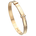 D For Diamond 9Ct Yellow Gold Adjustable Bangle For Boys Gb350