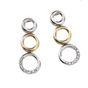 9K Two tone gold Diamond Earrings GE545 from Elements Gold
