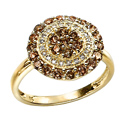 9K Yellow Gold Diamond ring GR261 from Elements Gold