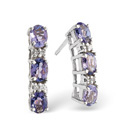 9K White Gold Diamond, Tanzanite Earrings From Catalina Diamonds F1918