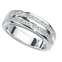 Silver Cubic Zirconia Ring From Elements Silver R2042C
