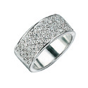 Silver Cubic Zirconia Ring From Elements Silver R2228C